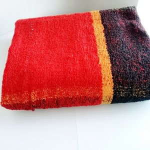 Black, Red and Orange Blanket/Throws
